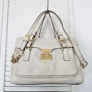 MICHAEL Michael Kors cream leather handbag 10X12